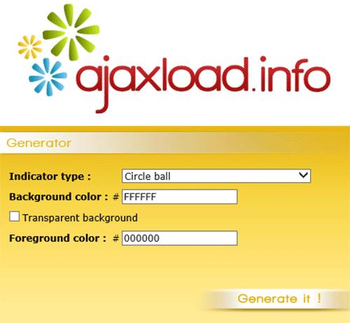 Ajax-loading-gif-generator
